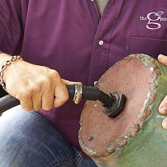 schlauchverbinder fuer das wasser druck erzeugen