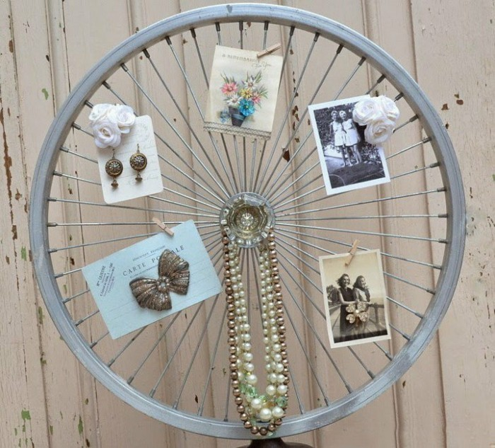 schmuckständer selber bauen upcycling ideen aus alten fahrrädern