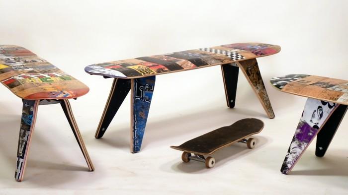 skateboard upcycling möbel ideen zum selberbauen