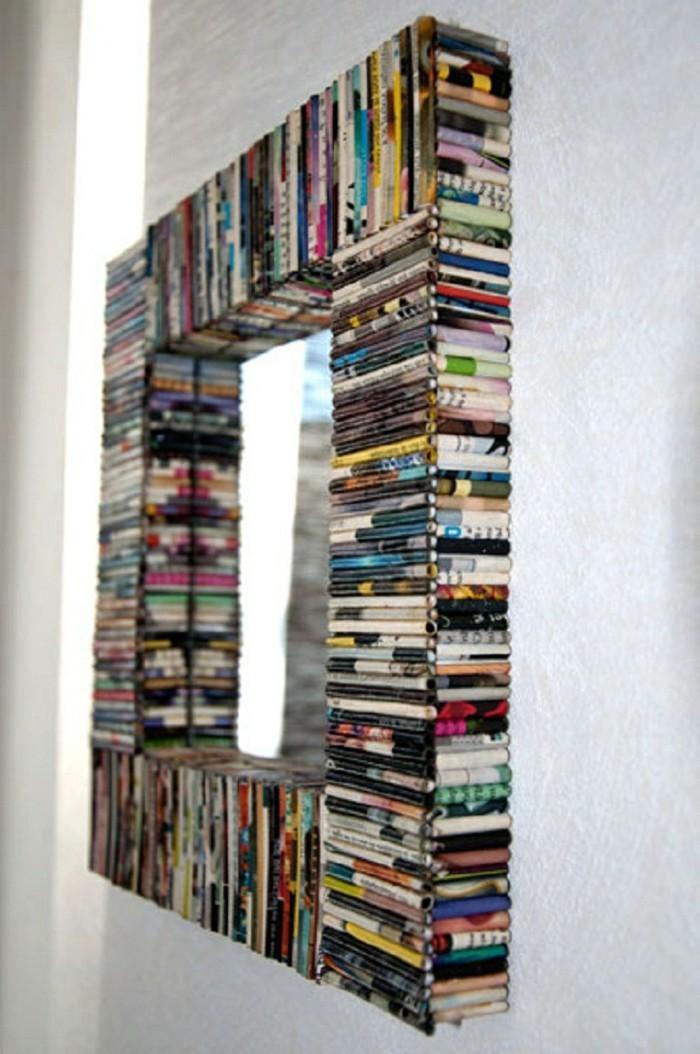 spiegel-verzieren-spiegelrahmen-zeitschriften-wiederverwenden