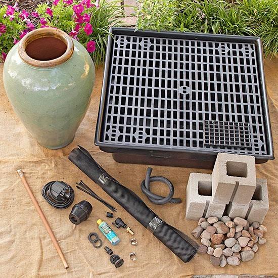 springbrunnen selber bauen unsere anleitung in 5 einfachen schritten. Black Bedroom Furniture Sets. Home Design Ideas