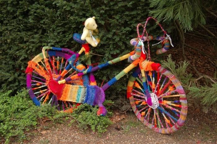 sricken und das fahrrad verhuellen