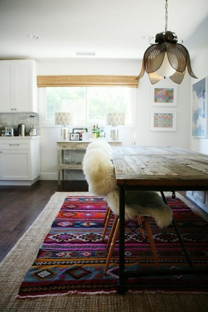 teppich verlegen ideen küche einrichten mit essbereich