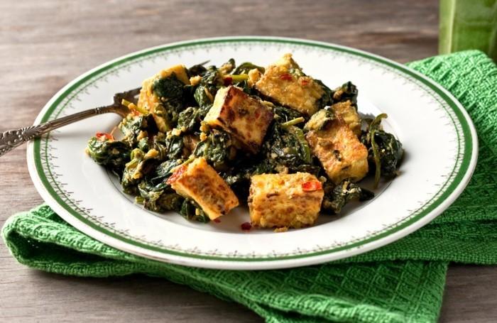tofu mit spinat kombinieren