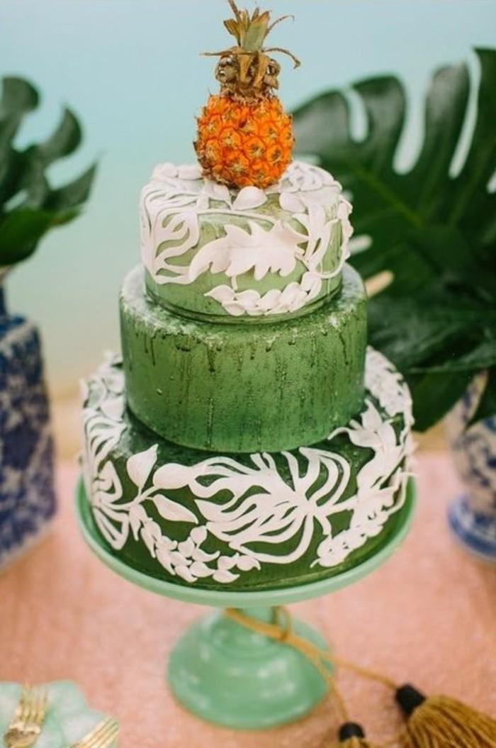 torten deko dekoideen mit fondant tropische torte
