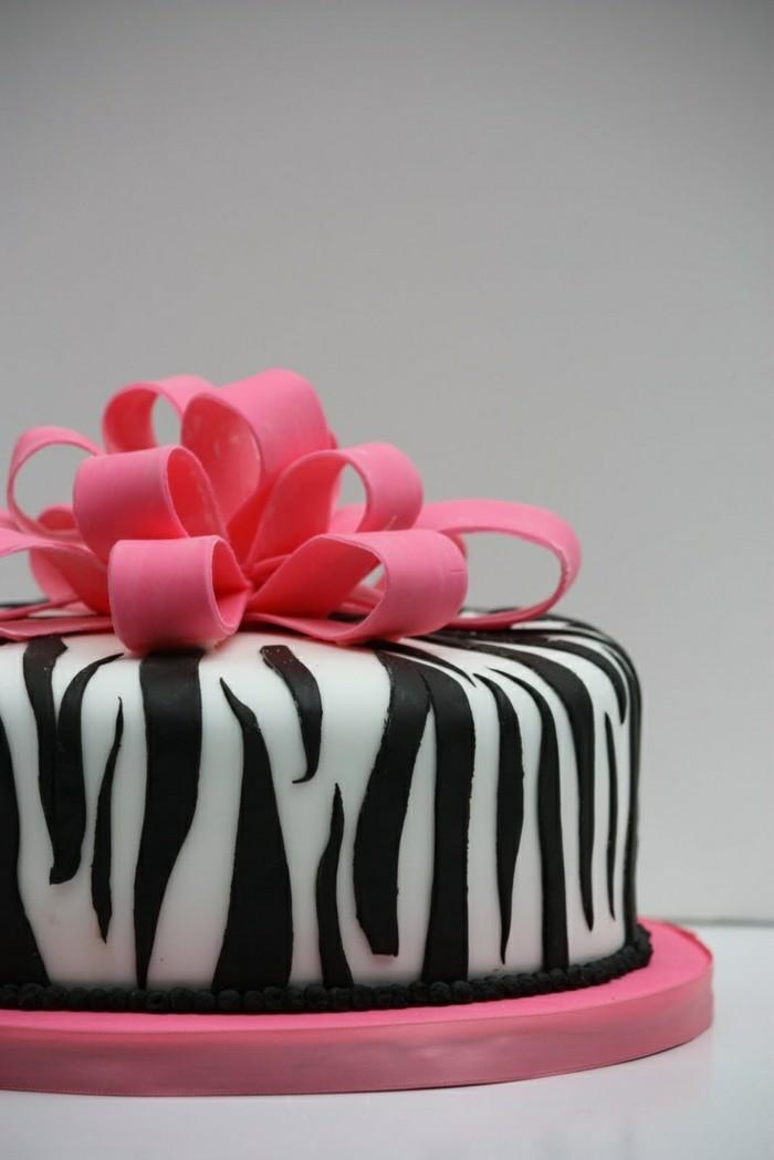 torten dekorieren wie ein geschenk mit fondant