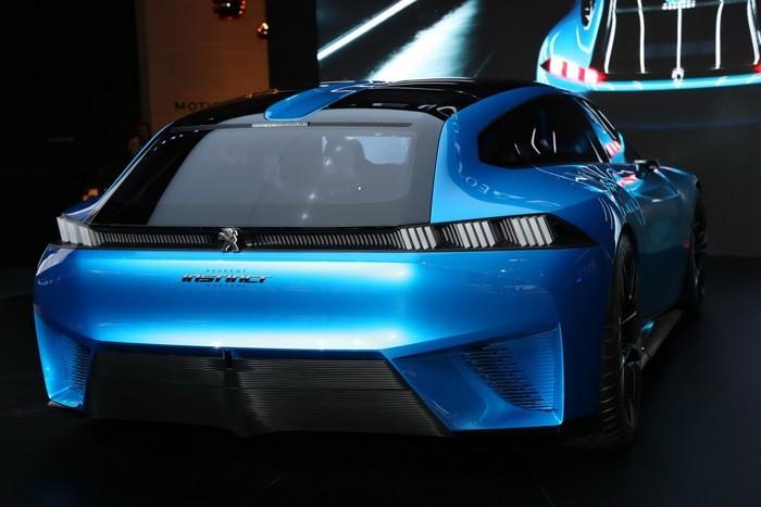 umweltfreundliche autos blauer peugeot instinct concept