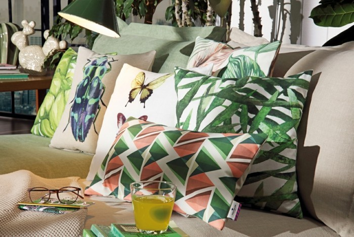 urban jungle wohntrend 2017 wohnaccessoires dekokissen tom tailor home