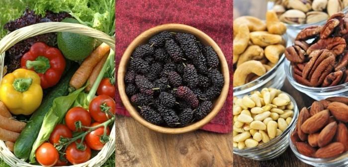 vegan abnehmen früchte gemüse nüsse gesund essen