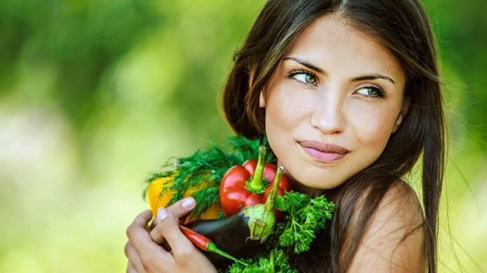 vegan abnehmen gemüse essen auberginen paprika chilli
