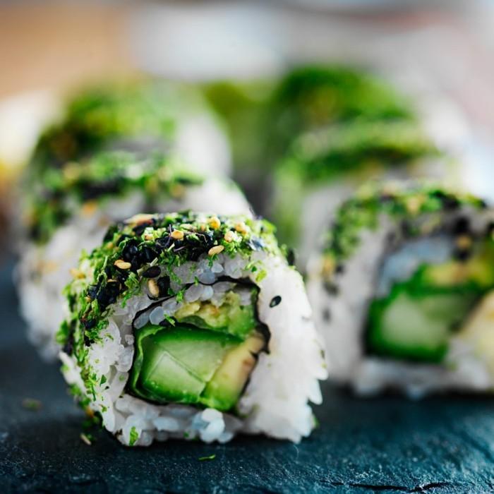 vegan abnehmen sushi rezept reis avocado