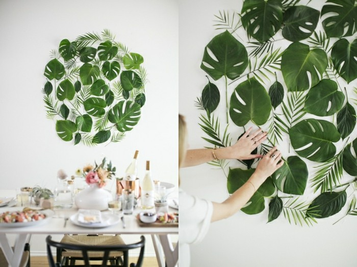 wanddekoration selber machen aus zimmerpflanzen