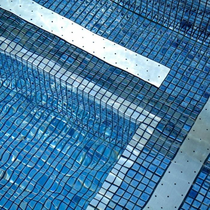 wasser pool fliesen aus glas