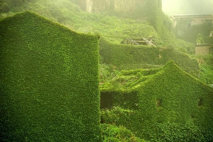 weltreisen gouqi ausgefallene häuser grünes dorf