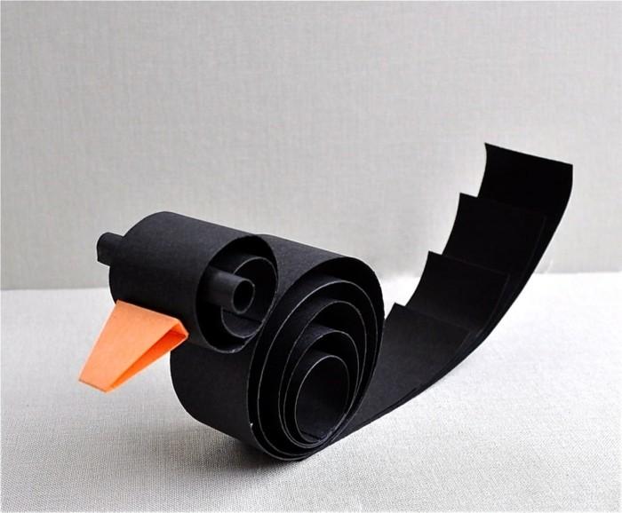 zimmer deko diy vogel zusammenknüpfen aus papier