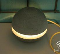 Betonlampe von Saris Garage – Eine Lampe aus Kreativ Beton selber bauen