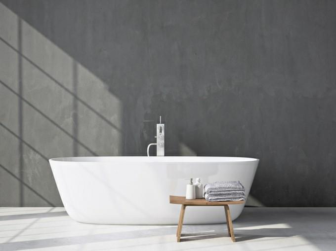 bad einrichten badewanne keramik