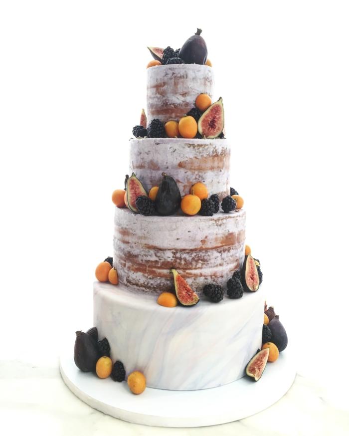 beeren früchte feigen hochzeitstorte semi naked cake