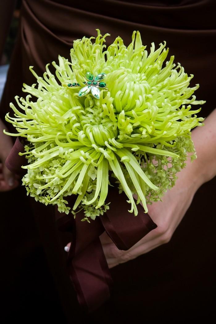 blumenstrauß vintage chrysantemen hochzeitsblumen winter