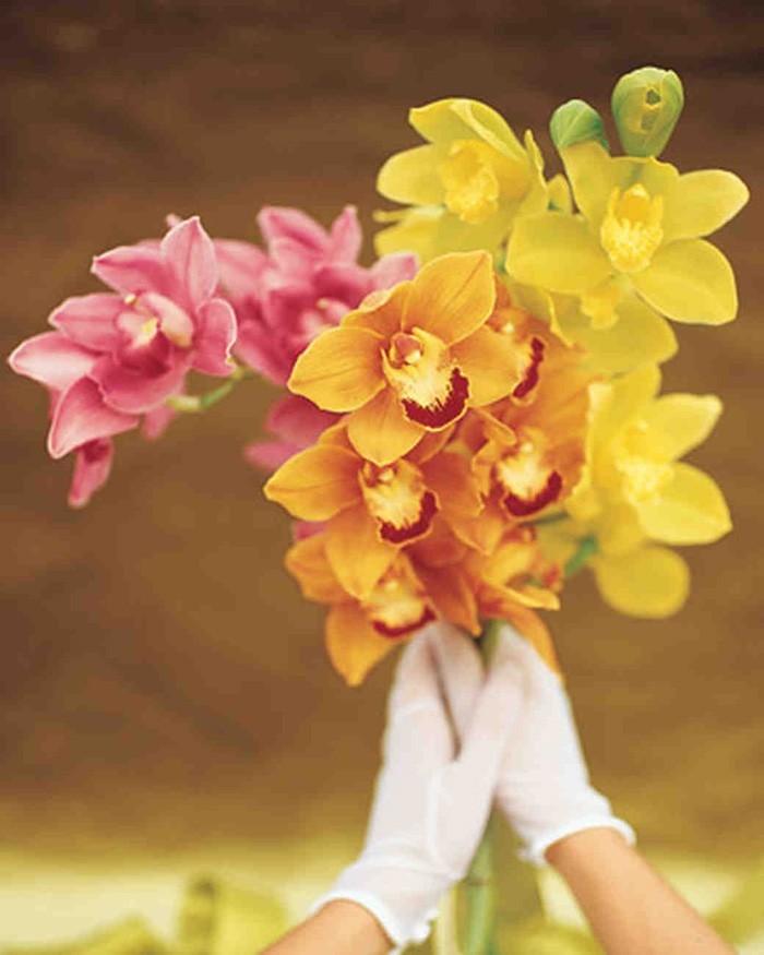 blumenstrauß vintage orchideen2