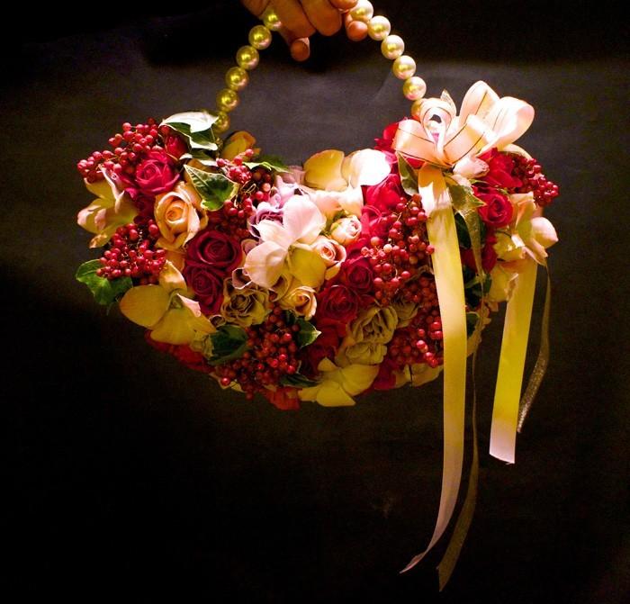 blumenstrauß vintage sonnenblume tasche