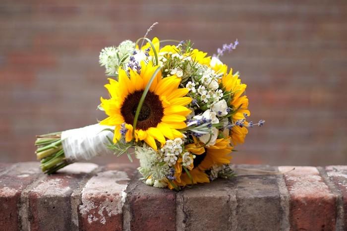 blumenstrauß vintage sonnenblume