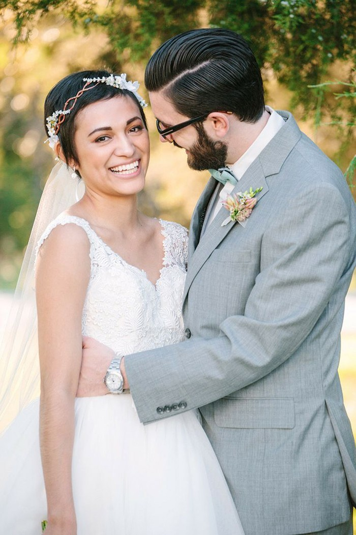Brautfrisuren mit kurzem schleier