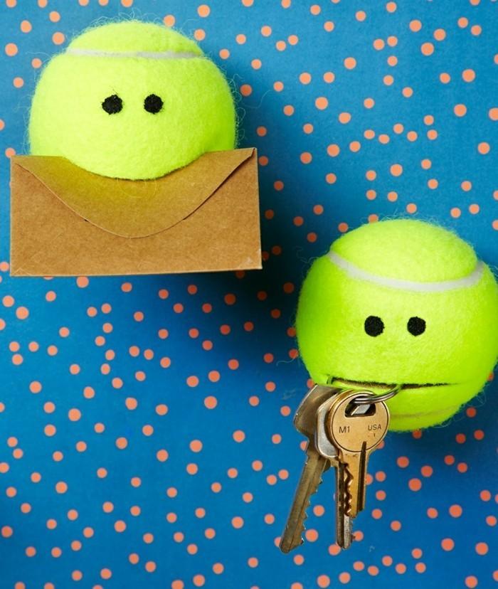 deko selber machen aus tennisbällen die auch funktional ist