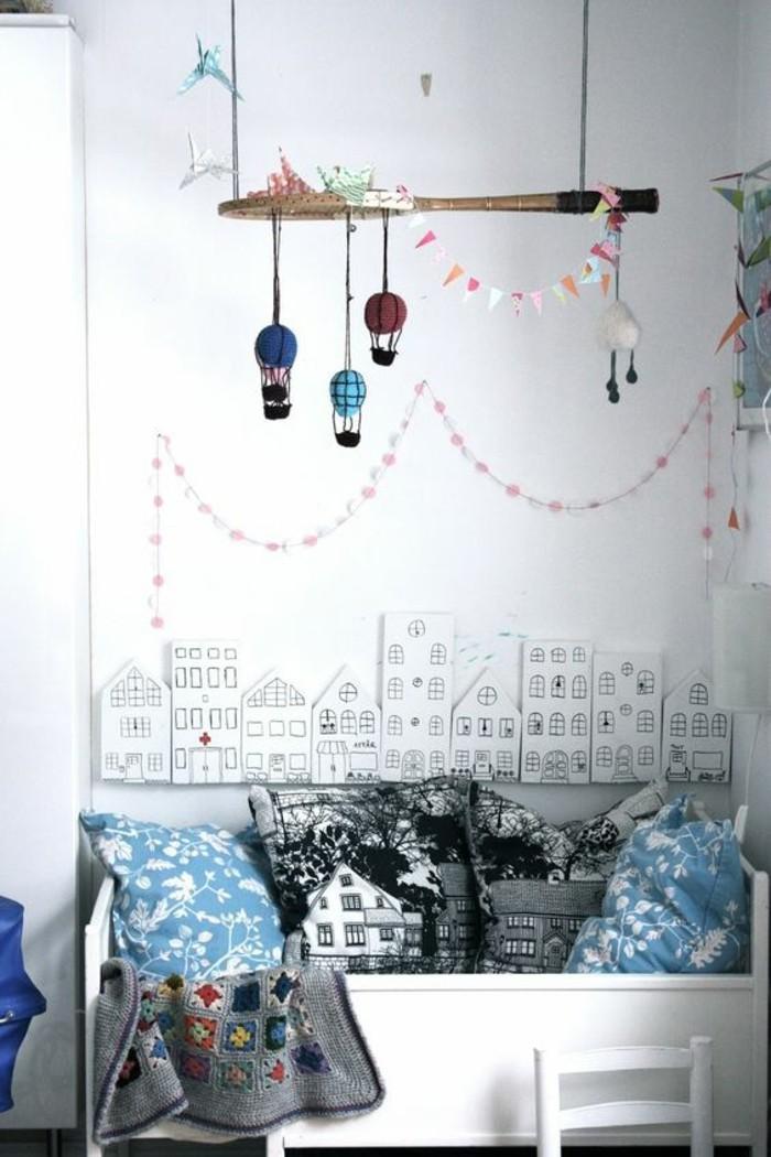 deko selber machen tennisschläger aufhängen als dekoration