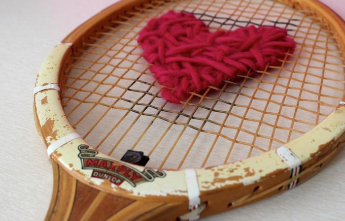 deko selber machen tennisschläger und nähen kombinieren