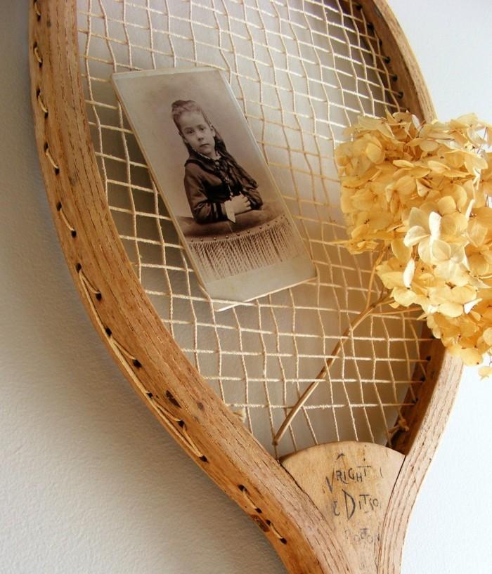 deko selber machen vintage deko mit tennisschläger