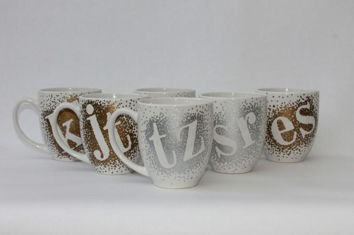 Basteln Mit Tassen tassen bemalen ausführliche anleitung und inspirierende ideen