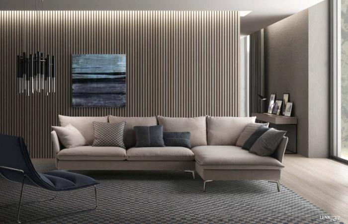 designer möbel polstermöbel creme farbe wohnzimmer ideen