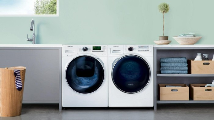 die waschmaschine platzieren