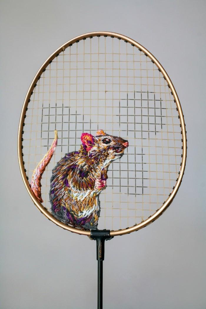 diy deko rabe auf tennisschläger danielle clough