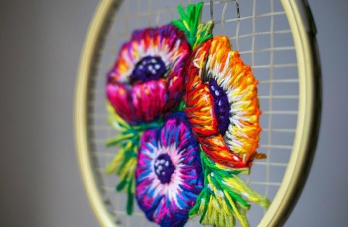 diy deko tennisschläger als kunstwerk danielle clough