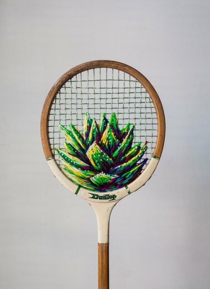 diy deko tennisschläger benutzen um zu nähen danielle clough