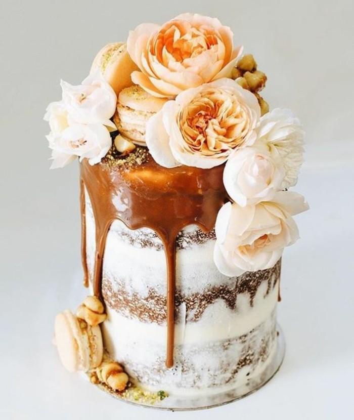drizzle cake hochzeitstorten tends 2017 echte pflingstrosen french macarons hoochzeitstorte deko