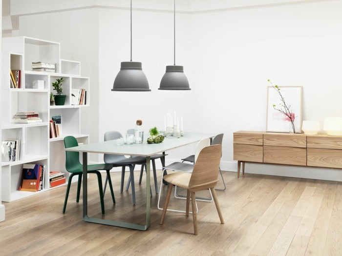 esszimmer modern bequeme stühle und schicker esstisch