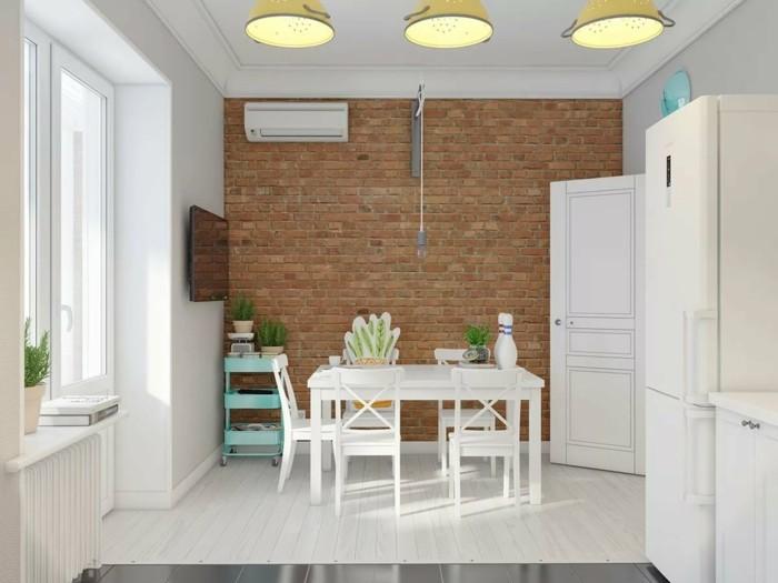esszimmer modern gemütliches speisezimmer einrichten mit ziegelwand