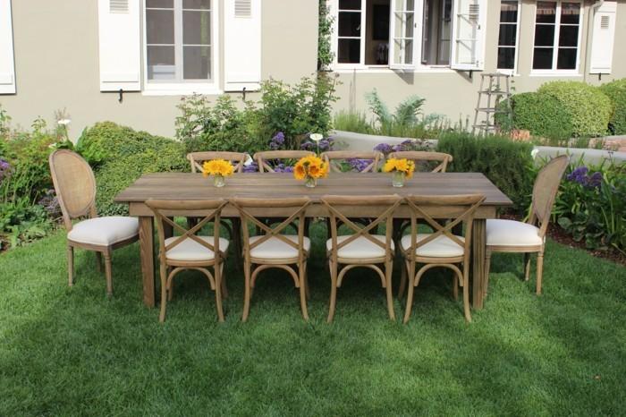 Garten sitzecke 99 ideen wie sie ein outdoor wohnzimmer - Gartentisch mit feuerstelle ...