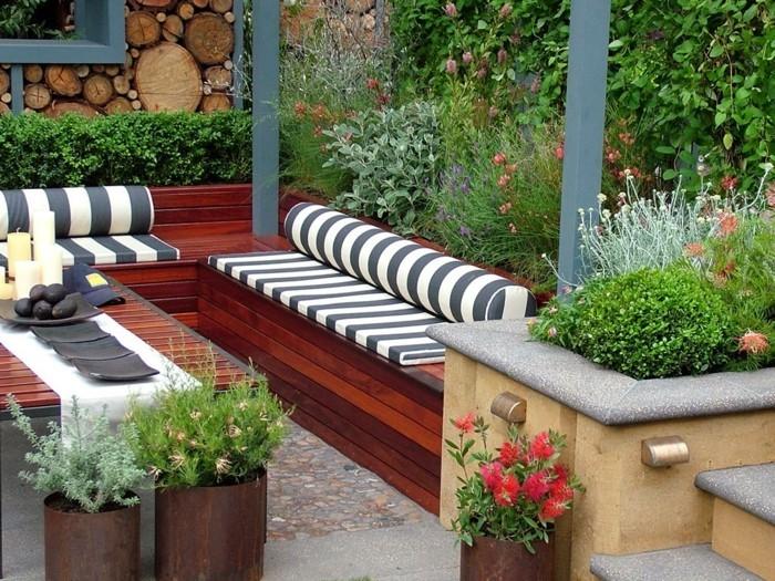 garten sitzecke - 99 ideen, wie sie ein outdoor wohnzimmer gestalten, Garten und bauen