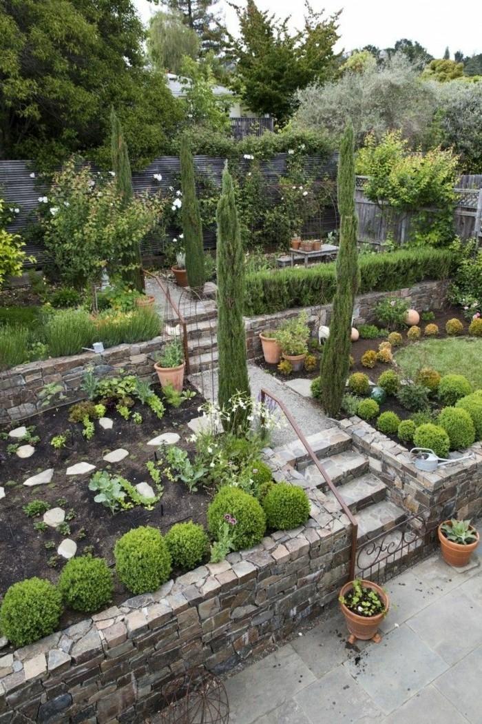 gartengestaltung ideen gartentreppen gartenpflanzen und steine