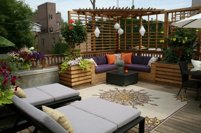 Garten sitzecke 99 ideen wie sie ein outdoor wohnzimmer for Terrassengestaltung ideen