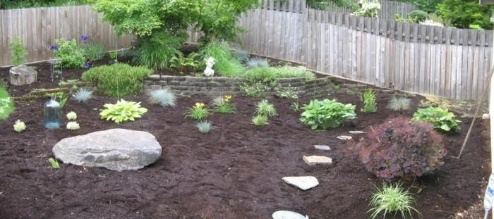 gartenideen für wenig geld gartenlandschaft pflanzen steine