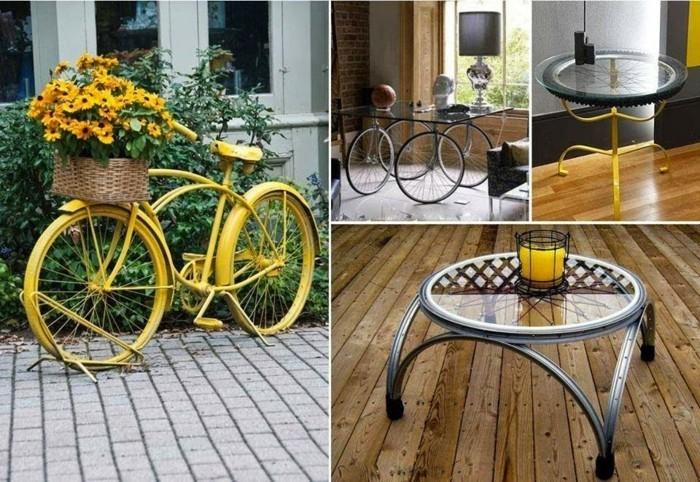 gartenideen mit fahrrad diy günstige gartengestaltung