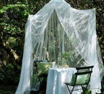 Gartengestaltung Ideen – Zelten im Garten mit einfachen Materialien oder den Komfort eines Gartenpavillons genießen?