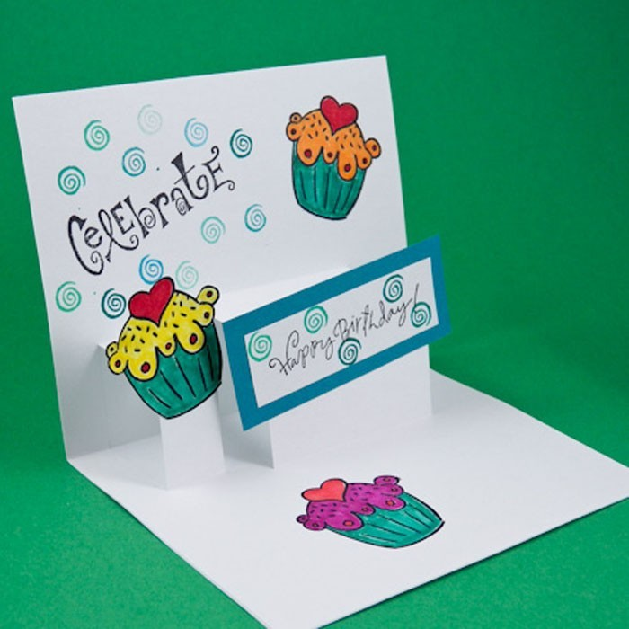 Geburtstagskarte selber basteln pop up oder aufklappkarte for Pop up birthday cards for mom