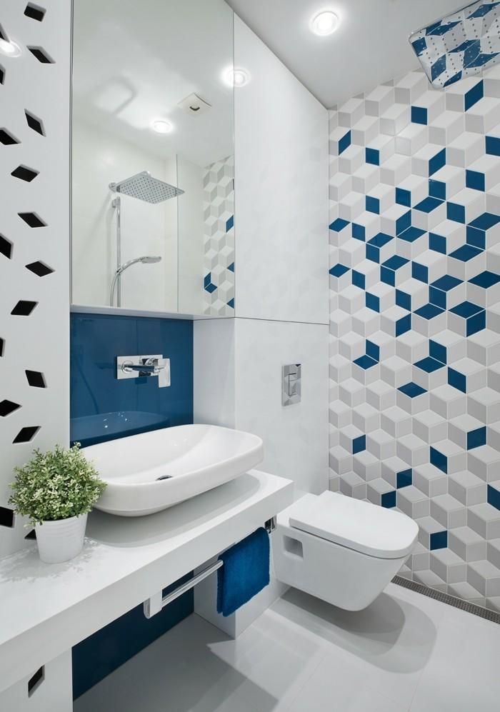 geometrische fliesen verlegen badezimmer gestaltung