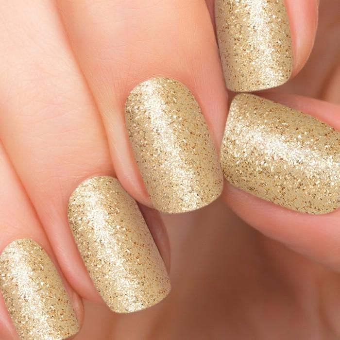 hochzeitsnägel hochzeit ideen goldfarben glitter glanz